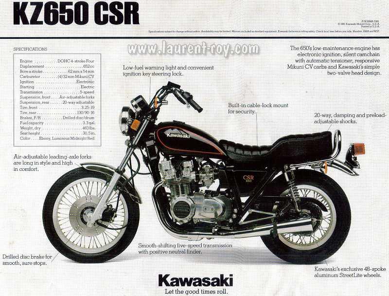 Kawasaki Csr  Specs