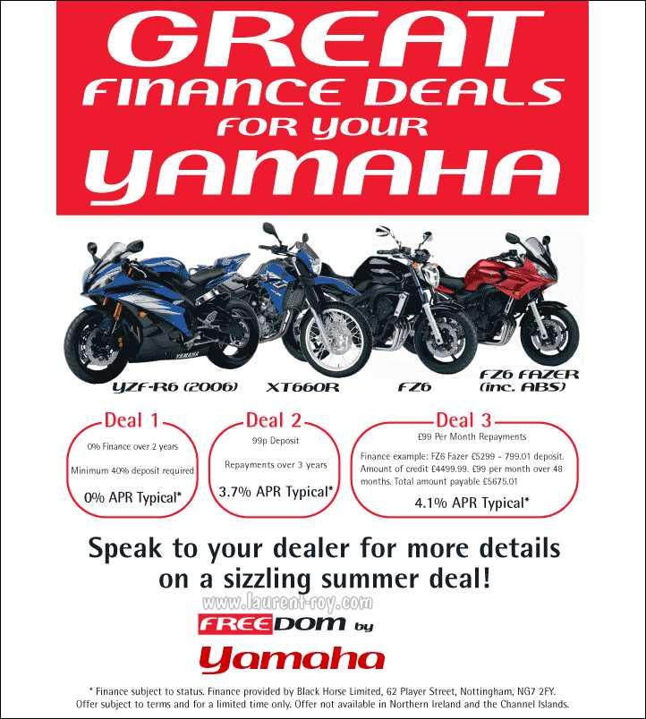 Yamaha finance deals uk
